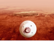 Atterrissage Mars 2020 - vue d'artiste