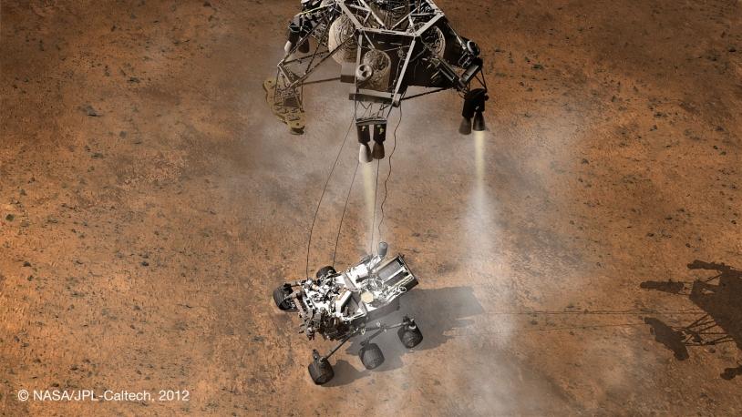 Atterrissage du rover MSL Curiosity sur Mars