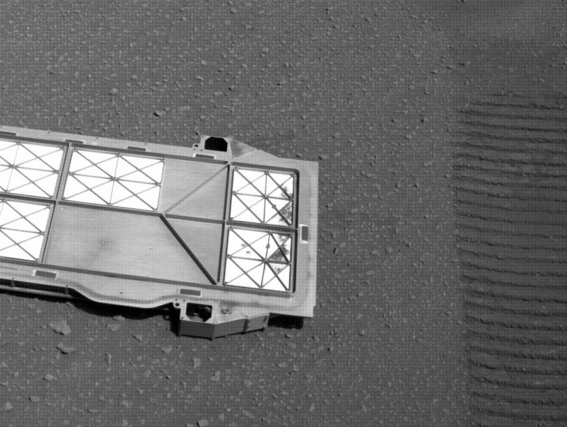 Bellypan sur le sol de Mars