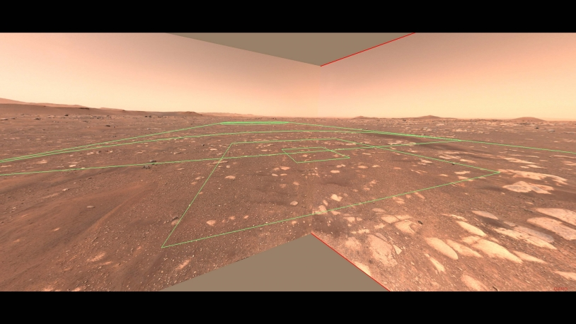 Persy Zone de vol du drone Ingenuity