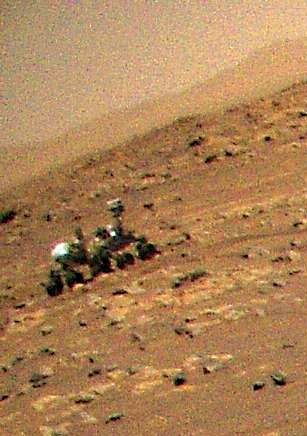 Persy Image du rover Perseverance capturée par l'une des caméras du drone Ingenuity au cours de son 3ème vol