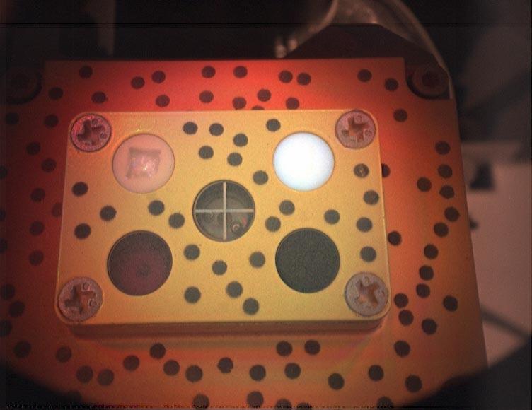 Persy : Image de la cible de calibration de l'instrument PIXL